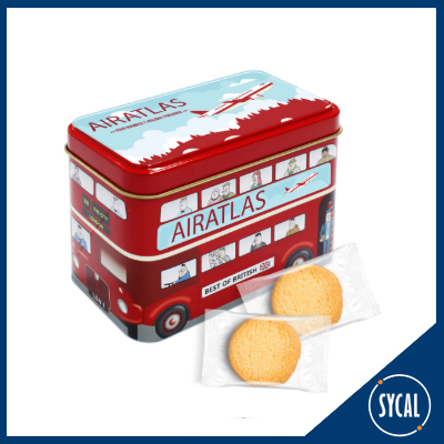 bus shaped shortbread biscuit tin