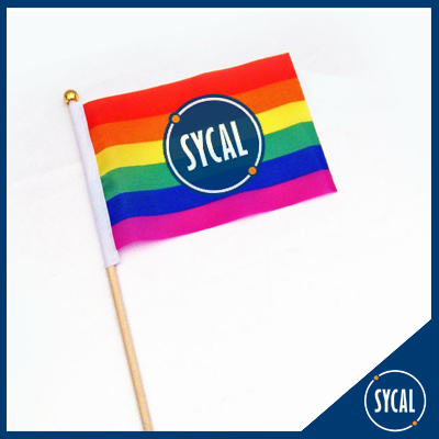 promotional pride rainbow flags