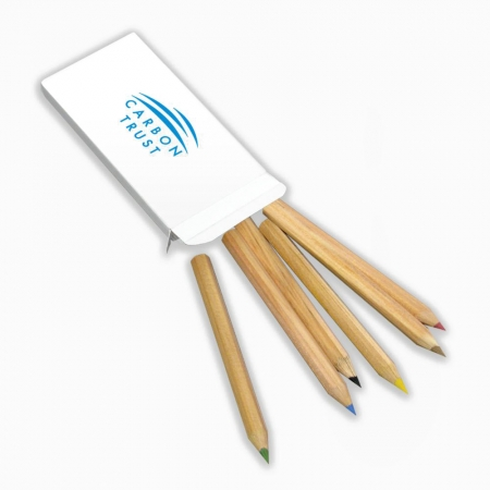 6 Small Colouring Pencils branded