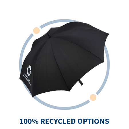 100% recycled umbrellas
