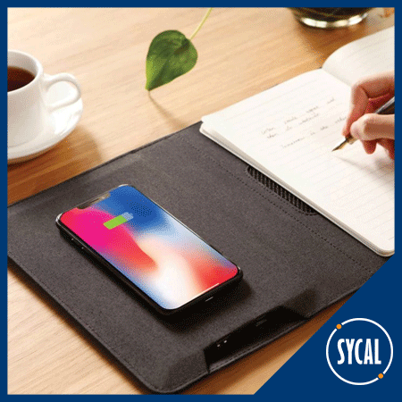 notepad with wireless phone charger