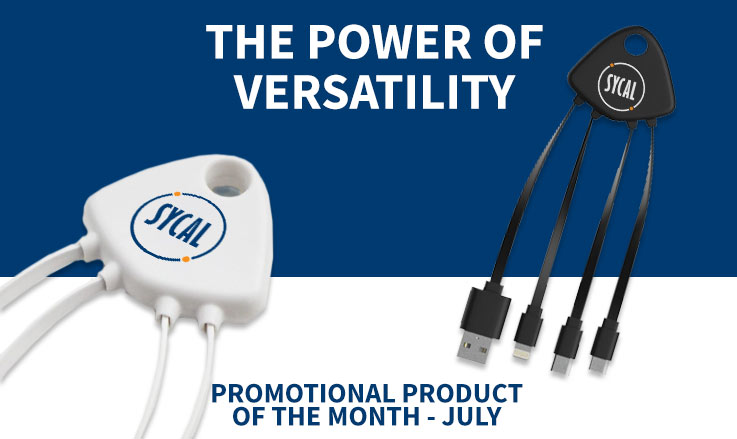 Promotional multi device charging cable