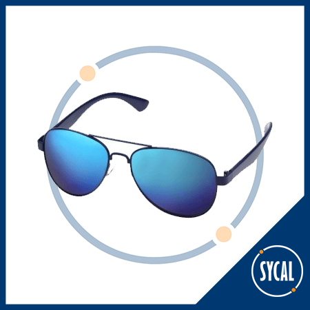 Aviator style promotional sunglasses