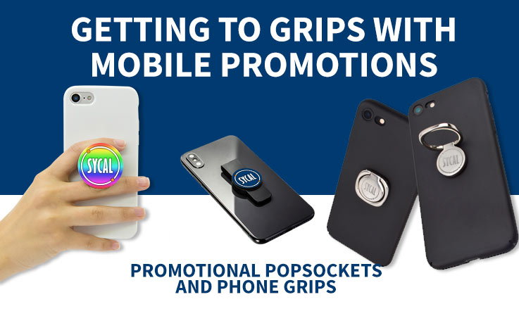 Promotional popsockets and phone grips