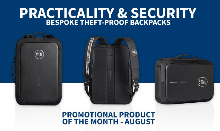 Promotional anti-theft backpack