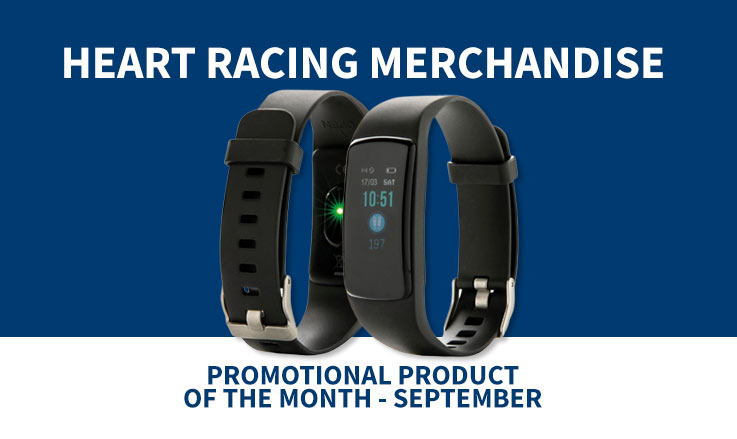 promotional fitness tracker with heart rate monitor