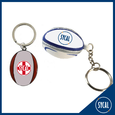 2D and 3D Rugby Ball Keyrings
