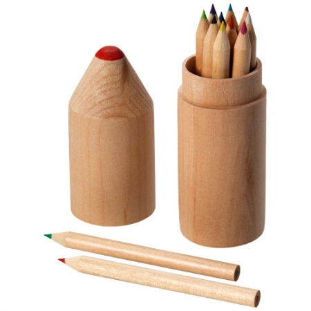Woody 12 piece coloured pencil set