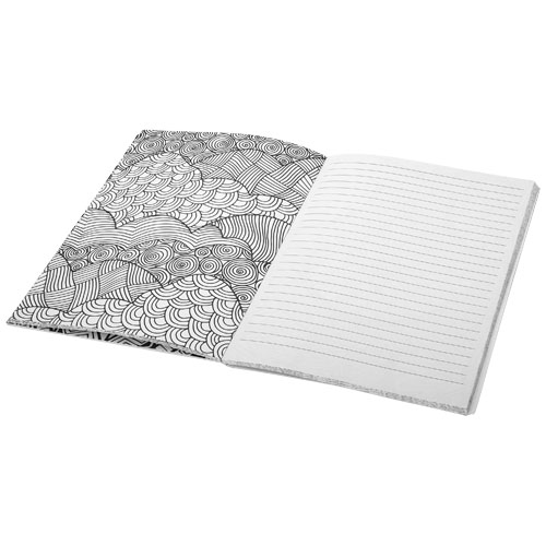 branded Doodle colouring notebook