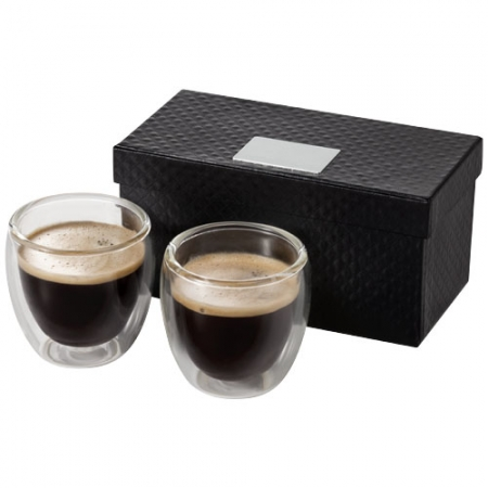 Glass espresso cup gift set