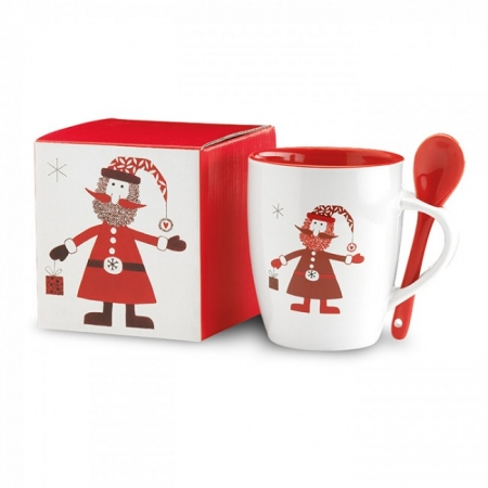 Christmas Mug with Spoon