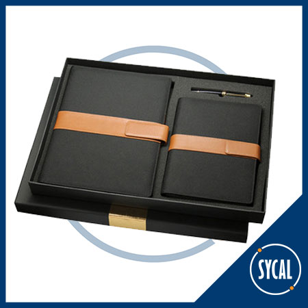 Branded notebook and diary gift set