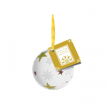 Bauble Tin - White Champagne Chocolate Truffles