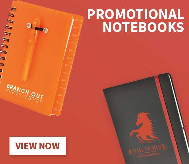 Custom branded notebooks and notepads