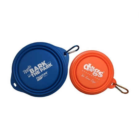 branded Collapsible Silicone Dog Bowl
