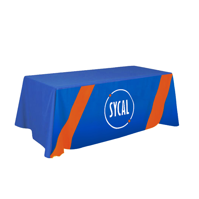 branded Polyester Tablecloth with Full-Bleed Dye Sublimation