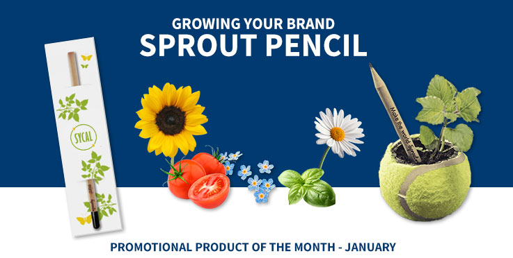 promotional custom sprout pencil