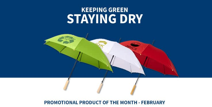 recycled promotional umbrellas