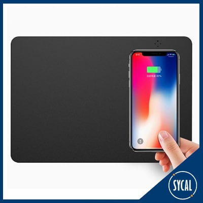 Mousemat with wireless charger