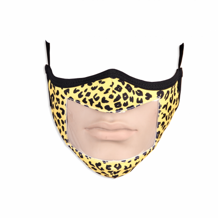 custom printed lip reading face mask