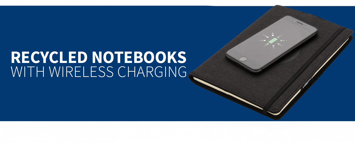 RECYCLED NOTEPADS WITH WIRELESS CHARGER