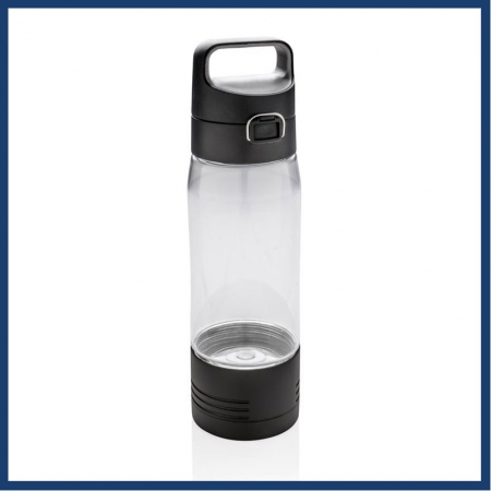 Promotional water bottle with inbuilt power bankl