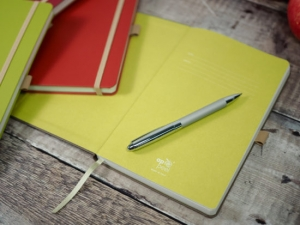branded recycled notebook