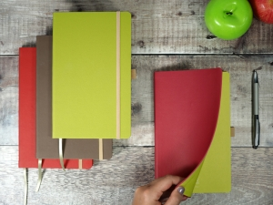 soft cover apple peel notebook