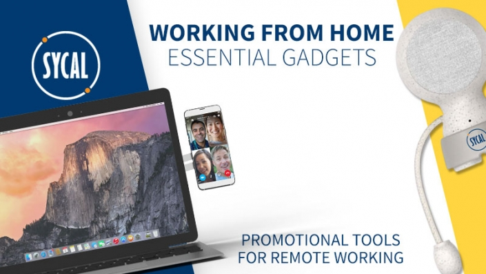working from home branded merchandise