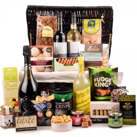 Green and Black promotional Christmas hamper