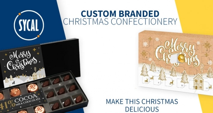 PROMOTIONAL CHRISTMAS BRANDED CHOCOLATES AND CONFECTIONERY