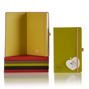 promotional notebook made from apple peels