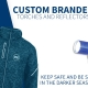 custom branded torches and promotional relectors