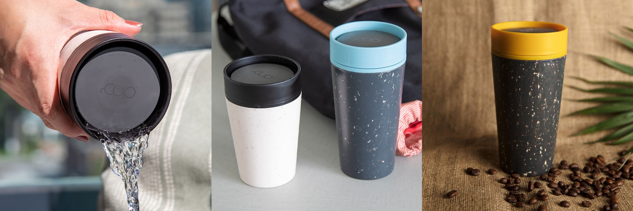 PROMOTIONAL BRANDED TRAVEL MUGS MADE FROM RECYCLED COFFEE CUPS