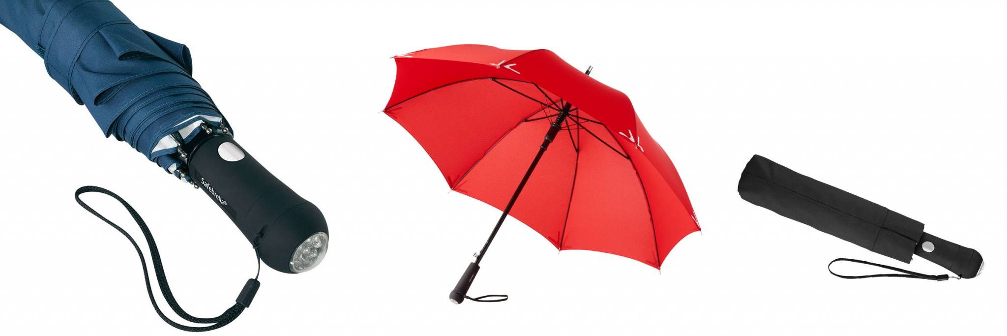 PROMOTIONAL BRANDED UMBRELLA WITH LED TORCH