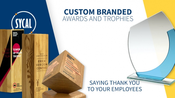 Custom branded awards and trophies
