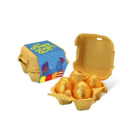 Easter Egg Box - 4 Gold foiled eggs