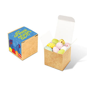Easter Eco Kraft Cube Speckled Eggs
