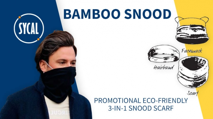 eco-friendly promotional snood banner
