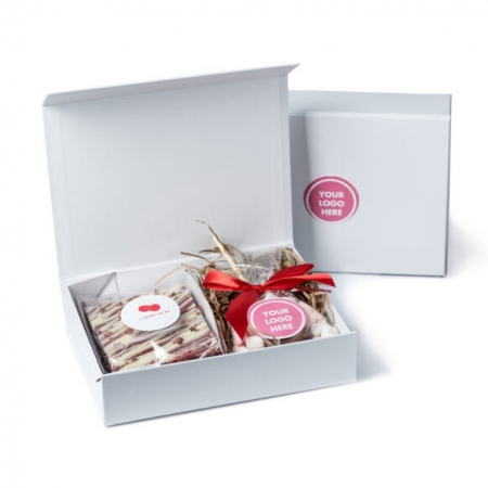 Personalised Valentines Treat Box with cakes