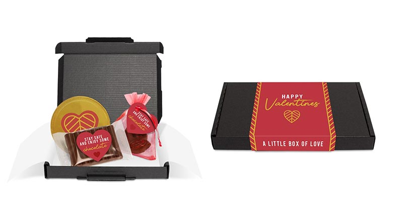 Valentine letterbox chocolate gift set