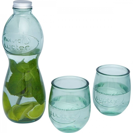 Brisa 3-piece recycled glass set