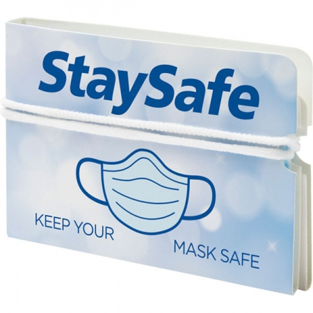 branded Nest fold-up face mask wallet