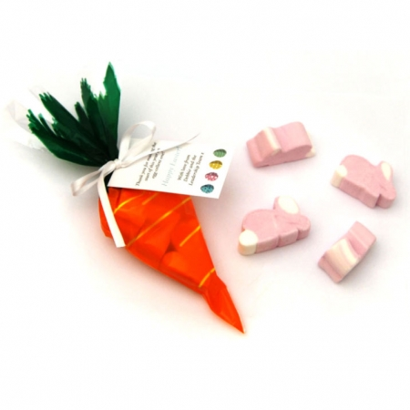 Carrot Sweet Bag with marshmallows