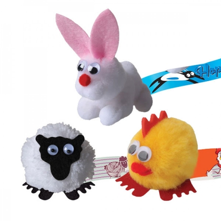 Logobug Characters sheep chicken and bunny