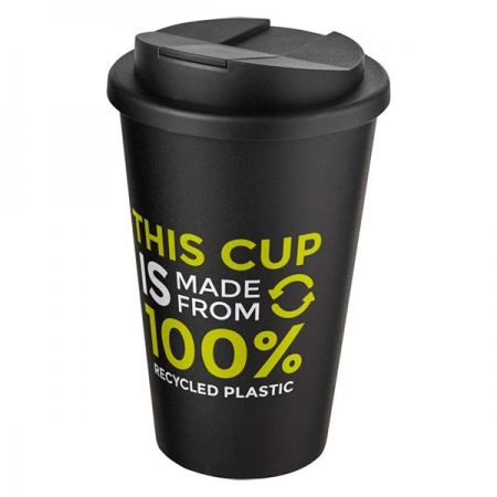 branded Americano Recycled 350ml spill-proof tumbler