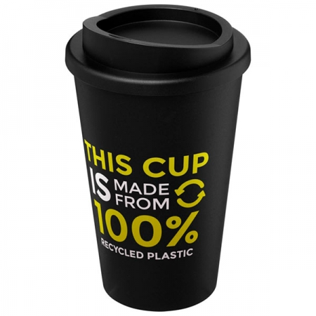 branded Americano Recycled 350ml insulated tumbler