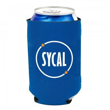 Sycal branded can cooler personalised koozie