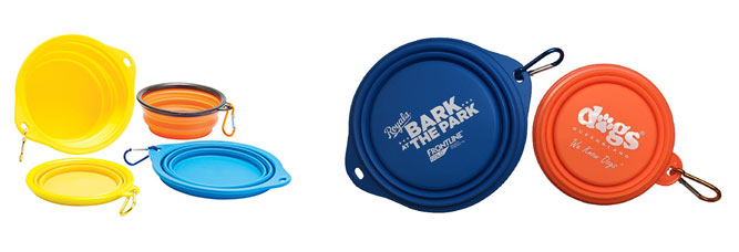 collapsible dog bowls with branding