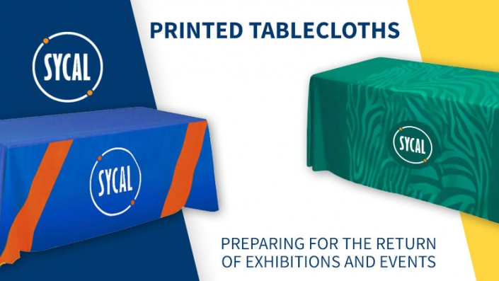 custom branded printed tablecloths for events